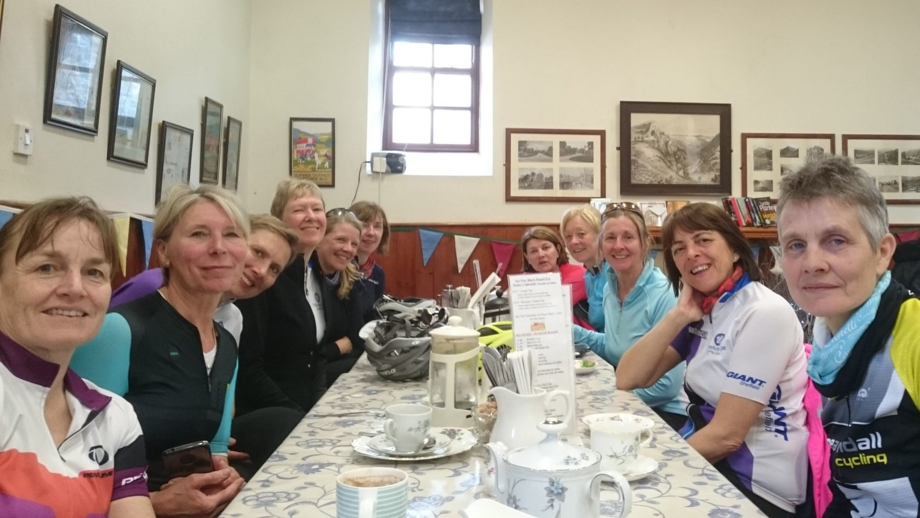 Cafe stops for coffee & cake… an important feature on all our rides